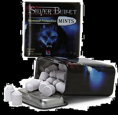 Halloween Candy For Sale Werewolf Silver Bullet Mints 2012