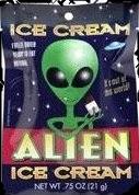 Alien Ice Cream Halloween Party Treat