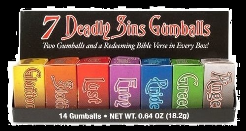 Halloween Candy For Sale Seven Deadly Sins Gumballs