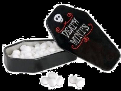 halloween candy for sale mints coffin death mints