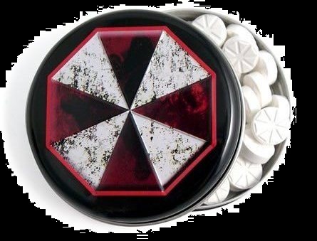 Halloween Candy For Sale Resident Evil Mints Umbrella Corporation Tin
