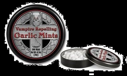 Halloween Candy For Sale Mints Vampire Repelling Garlic Mints