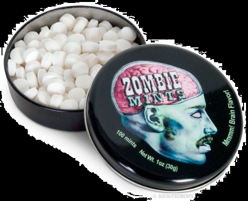 Halloween Candy For Sale Zombie Mints and Tin