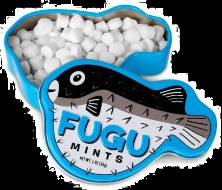 Halloween Candy For Sale Poisoned FUGU Fish Mints