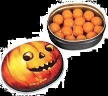 Pumpkin Gum Halloween Candy Treats Jack O Lantern Tin